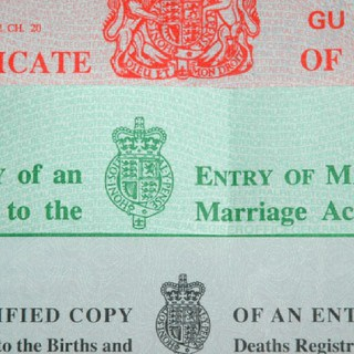 birth, marriage and death certificate